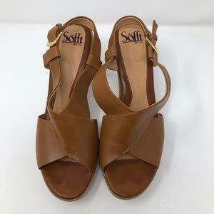 EUC SOFFT Brown Leather Sandal Size 8.5